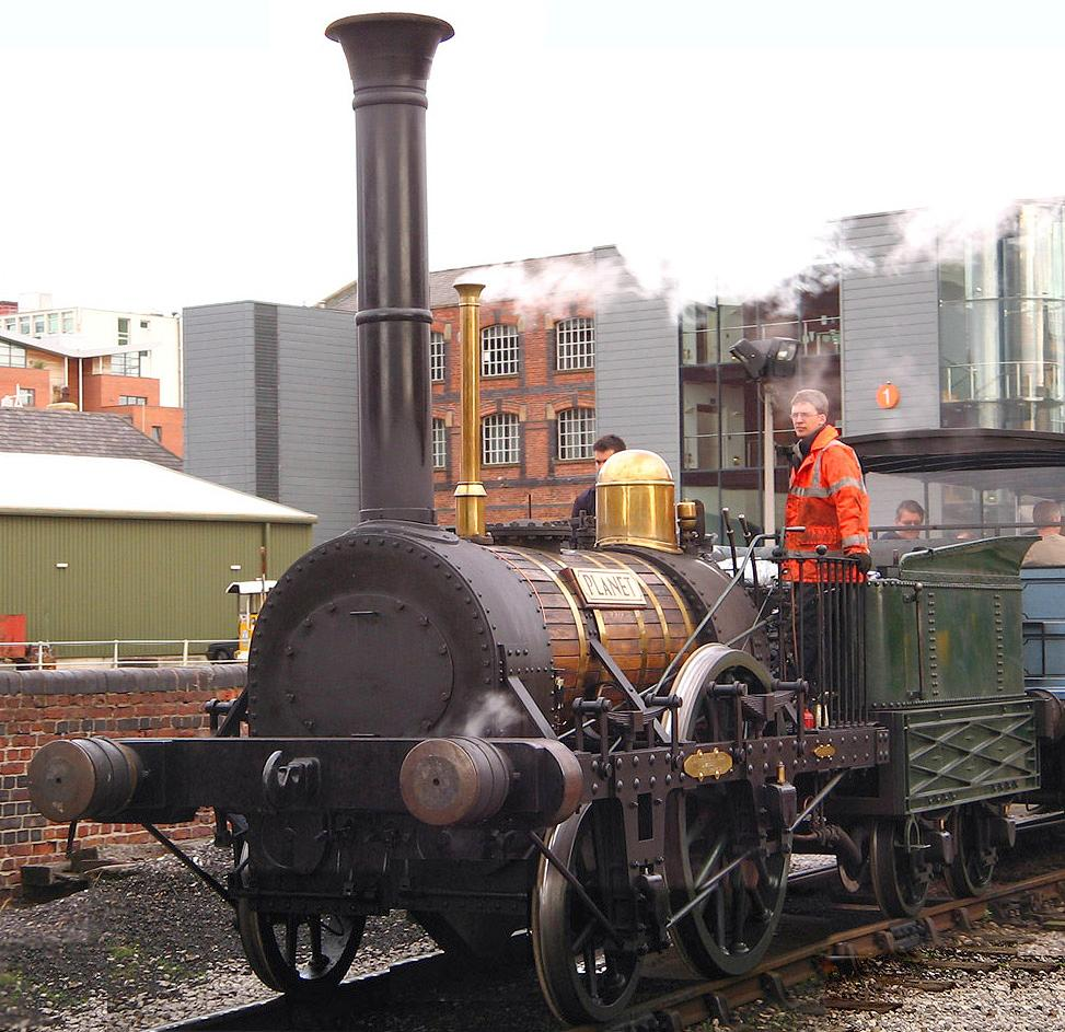 """Replica of the """"Planet"""" type steam engine."""